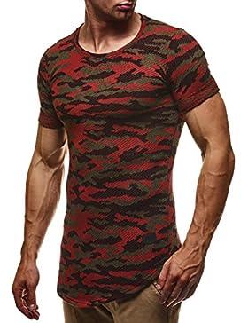 LEIF NELSON Herren T-Shirt Sweatshirt Hoodie Hoody Camouflage Army LN6363