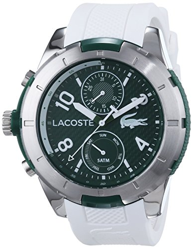 Lacoste Men's Quartz Watch with Black Dial Analogue Display Quartz Silicone 2010758