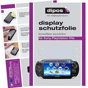 dipos I 2X Schutzfolie klar kompatibel mit Sony Playstation Vita Folie Displayschutzfolie (1x Vorder- & 1x Rückseite)