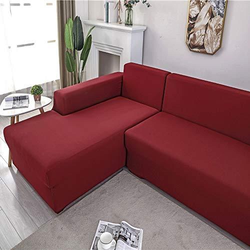 HTGL Funda Sofa Protector para Sofá De PoliéSter Y Spandex Color SóLido...