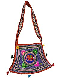 Ratnatraya Ethnic Women's Traditional Jaipur Colorful Designer Handicrafts Hand Bags For Mother, College Girls... - B0773NS685