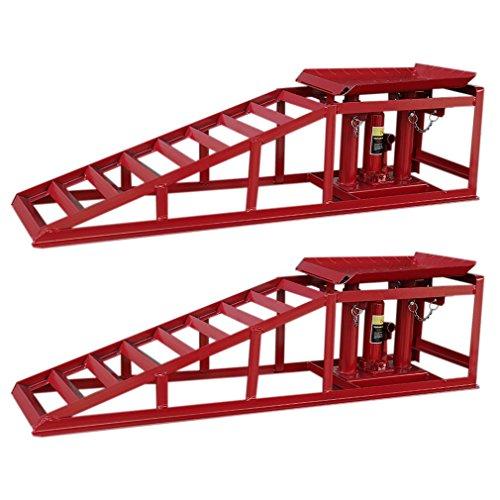 ACEHE PKW Auffahrrampe Rampe höhenverstellbar KFZ Wagenheber 2 Stück 2000kg Metall