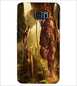 PRINTSWAG DEER WITH MONSTER Designer Back Cover Case for SAMSUNG GALAXY S6 EDGE PLUS