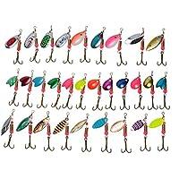 25Pcs Spinnerbaits Balance Bracket Fishing Spinner Rigs Spinners Sequins
