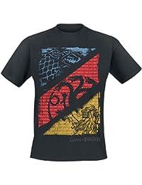 Game of Thrones Stark, Targaryen, Lannister Sigils T-Shirt Black