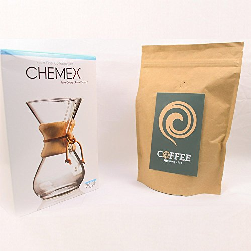 Chemex-3-6-Wood-Neck-Coffee-Maker-and-Coffee-of-the-Month