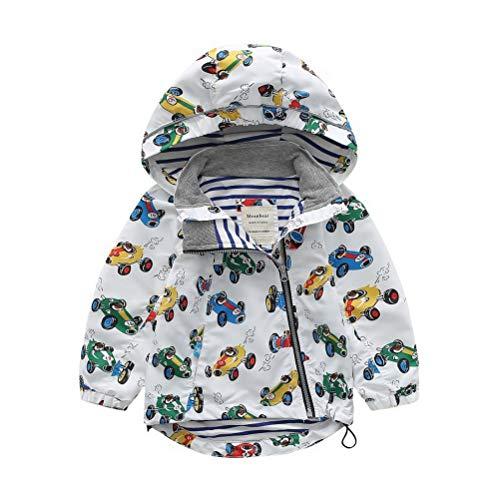 ARAUS Baby Jacke Jungen Regenmantel Mädchen Mantel mit Kapuzen Winddicht Herbst 2-8 Alter
