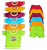 #4: Apt Padhus Baby Boys Cotton Dress (Pack of 6) (PF050_Multicolor_6-12 Months)