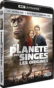 La Planète des Singes : Les origines [4K Ultra HD + Blu-ray + Digital HD]