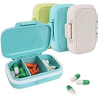 Preisvergleich für Pillendose Kapseldose Queta Wasserdicht Pillenbox Tablettenbox mit 3 Fächern, Tablettendose für Reisen und Draußen...