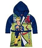 Sam le Pompier Garçon Robe de chambre à capuche polaire, toucher doux - bleu marine - 5 ans