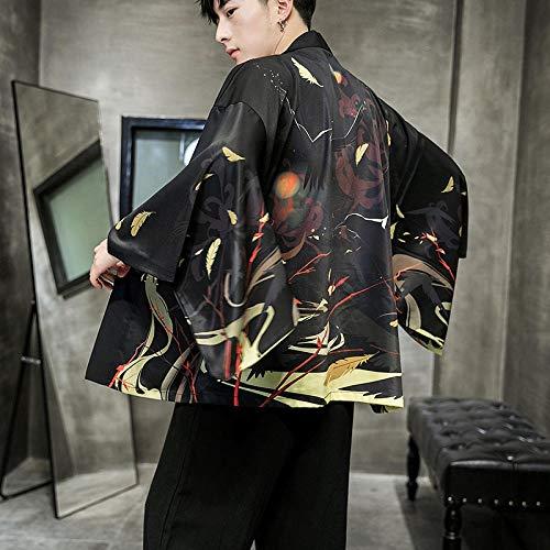 Estilo De Los Hombres De Japón Impresión China Coats