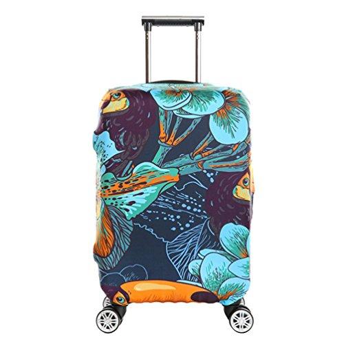YiJee Elastic Covers Koffer Drucken Abdeckung Für Beutel 18-32 Zoll Wie Das Bild 4 XL - Dehnbare Koffer Abdeckung