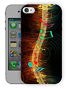 """Humor Gang Music String Printed Designer Mobile Back Cover For """"Apple Iphone 4-4S"""" (3D, Matte Finish, Premium Quality, Protective Snap On Slim Hard Phone Case, Multi Color)"""