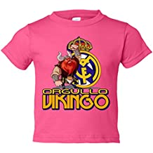 Camiseta niño Real Madrid orgullo vikingo escudo