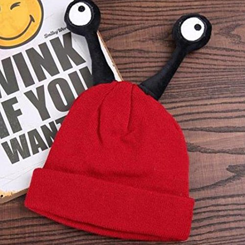 Belsen enfants insecte Bonnet de laine Cute Baby chaud chapeau tricoté Rouge