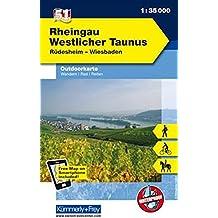 K&F Deutschland Outdoorkarte 51 Rheingau 1 : 35 000: Westlicher Taunus - Rüdesheim - Wiesbaden (Kümmerly+Frey Outdoorkarten Deutschland)