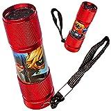 Unbekannt Taschenlampe LED - Miraculous - aus Metall - Mini Lampe / Schlüsselanhänger - 9 Fach LEDlicht - Licht Auto Kindertaschenlampe für Jungen Mädchen - Metalltasch..