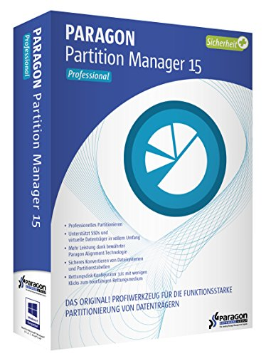 Paragon Partition Manager 15 Professional (Festplatte Partition Software)