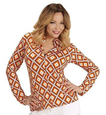 NEU Damen-Kostüm Bluse Rhombus, Gr. S-M (Achtziger Jahre Motto Kostüme)