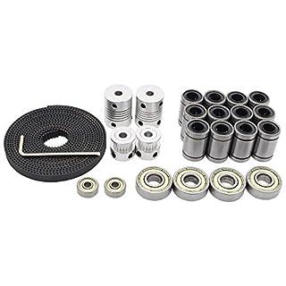 Redrex 3D-Drucker Bewegung Kits für Reprap Prusa i3 Motor Wellenkupplungen + GT2 Zahnriemen + 20T Zahnriemenscheibe + 608ZZ Lager + LM8UU Linearlager + 624zz Bearing