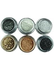 CHIC*MALL 6pcs Eyeshadow Make Up pigment Glitter Smoky Eye Version