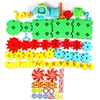 Detectoy 54 stücke Bausteine Spielzeug DIY Montage Kreative Getriebe Bricks Frühe Pädagogische Spielzeug für Kinder Lernen Spielzeug preisvergleich bei kleinkindspielzeugpreise.eu