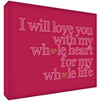 Feel Good Art-Quadro si I Love You My interi, a forma di cuore, con scritta
