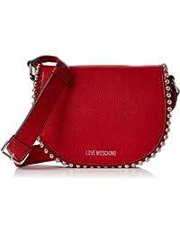 Moschino Borsa Calf Pu Rosso, Sacs baguette femme, (Red), 8x13x18 cm (B x H T)