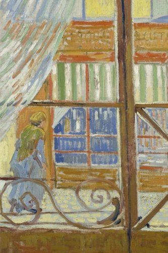 View of a butcher's shop, Vincent van Gogh: Journal (notebook, composition book) 160 Lined / ruled pages, 6x9 inch (15.24 x 22.86 cm) Laminated