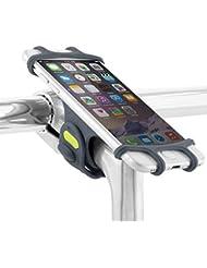 Fahrrad Handyhalterung für alle Smartphones, rostfrei und bruchfest, konzipiert für Montage am Lenker Vorbau, universaler Fahrradhalter für Telefone und Geräte mit einem 4-6 Zoll Bildschirm, Handyhalter Fahrrad, Rennrad sowie Mountainbikes