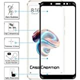 Full Cover Full Glue 5D Tempered For Xiaomi Redmi Note 5 Pro , Case Creation (TM) 3D Arc Edge Full Body Front Edge To Edge Tempered Glass Screen Scratch Guard Protector For Xiaomi Redmi Note 5 Pro / Redmi Note5 Pro 2018/ Mi Redmi Note 5 Pro 5.99-inch (New