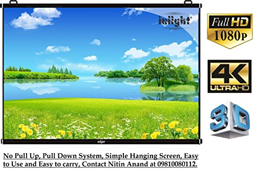 Inlight Universal Map Type Projector Screen, 6 Ft. (Width) x 4 Ft. (Height), Supports 3D and Full HDTV Format, No Connectivity