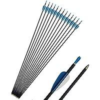 """SHARROW 12 piezas 32"""" Flechas de carbono para Tiro con arco de caza Arco recurvo compuesto"""