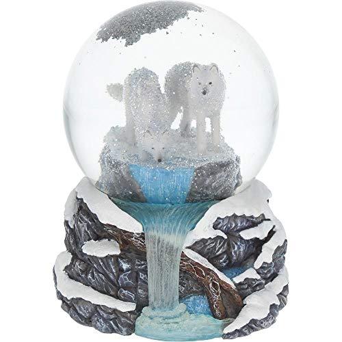 Nemesis Now Warriors of Winter Lisa Parker Schneekugel 17,5 cm, Weiß, Kunstharz und Glas, Einheitsgröße