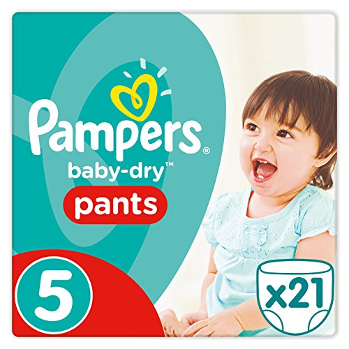 Preisvergleich Produktbild Pampers Baby Dry Pants Windeln, Gr.5 (11-18 kg), 4er Pack (4 x 21 Stück)