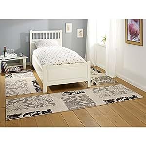 hanse home 101535 3 teilig bettumrandung teppich lectus bettl ufer bettbr cke polypropylen. Black Bedroom Furniture Sets. Home Design Ideas