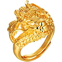 Anillo de dragón dorado