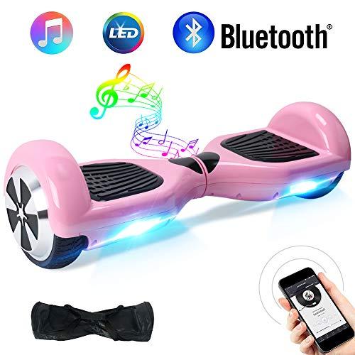 BEBK Overboard, 6,5 Pouces Hoverboard Bluetooth Self Balance Scooter, 700W Smart Gyropode, Électrique Auto-Équilibrage Enfant Adulte LED Skateboard