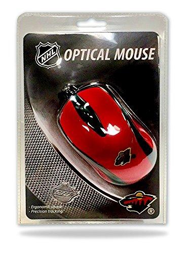 FIDELITY ELECTRONICS NHL Minnesota Wild Optische Maus, Größe 8,25, rot - Fidelity Electronics