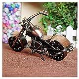 GWModel Oldtimer Motorrad Modell Handarbeit Bügeleisen Lager Rad Kunst Antike Modell Fahrzeug Sammlung Home Desktop Retro Metall Deko Kreative Persönlichkeit Ornament Hochwertige Geschenk, Bronze