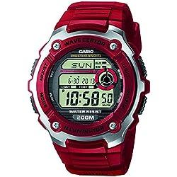 Casio WV-200E-4AVEF - Reloj (Reloj de pulsera, Resina, Acero inoxidable, Sintético, Negro, Rojo, Plata, Resina, Rojo, Mineral)