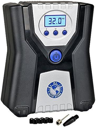 P.I. Auto Store - Gonfleur de Pneus Numérique Haute Qualité – Compresseur à Air Électrique 12V DC Portable.