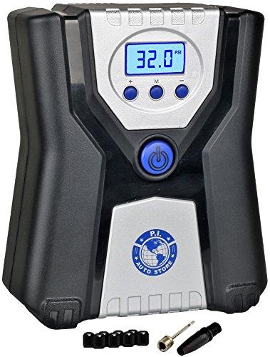 P.I. Auto Store - Inflador de Neumáticos Digital Premium – Bomba Compresora de Aire Portátil Eléctrica de 12V DC. Con Apagado Automático.
