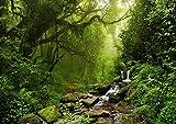 ARTBAY Wald Poster XXL - 118,8 x 84 cm | Wasserfall im Regenwald | Urwald | Nepal | Natur Poster |Premium Qualität