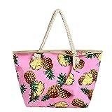 Grande borsa da spiaggia idrorepellente con cerniera Borsa a tracolla Shopper Ananas