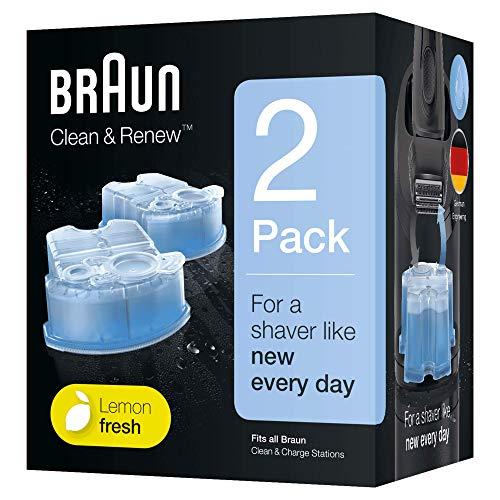 Braun Clean & Renew - Pack de 2 recambios de líquido limpiador para el sistema CCR2, estación de limpieza Clean & Charge