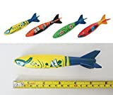 Set of 4Pcs Underwater Torpedo Rocket Swimming Pool Toy Swim Dive Sticks Holiday Games