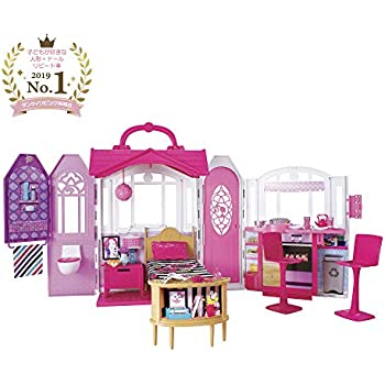 Barbie- Casa Vacanze Glam, Richiudibile, con Cucina, Camera da