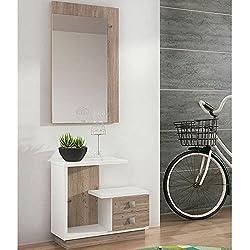 Mueble de recibidor moderno y barato en color nelson/blanco - star